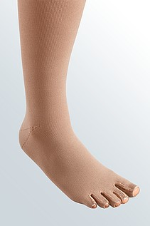 mediven mondi compression stockings toe cap caramel