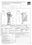 Formulaire de prise de mesure tricot plat Manchon Main