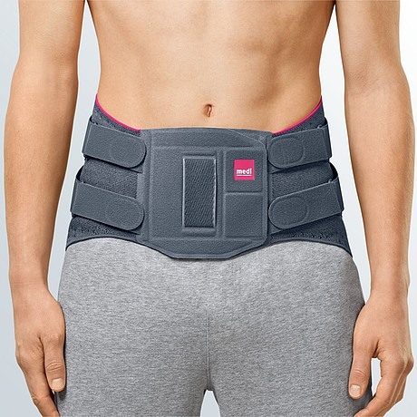 Lumbamed facetlumbar supporting orthosis with strap